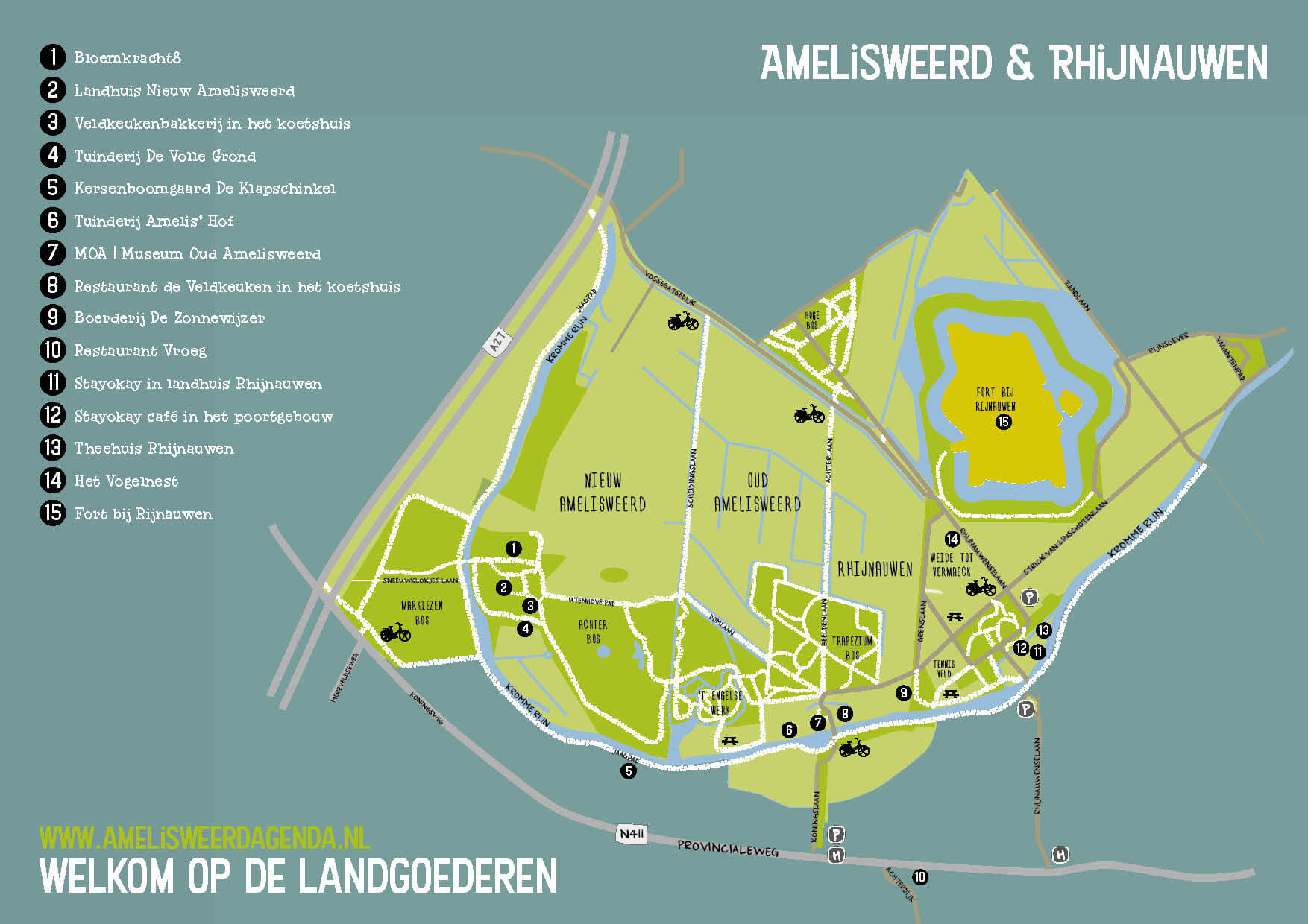 Plattegrond Amelisweerd & Rhijnauwen
