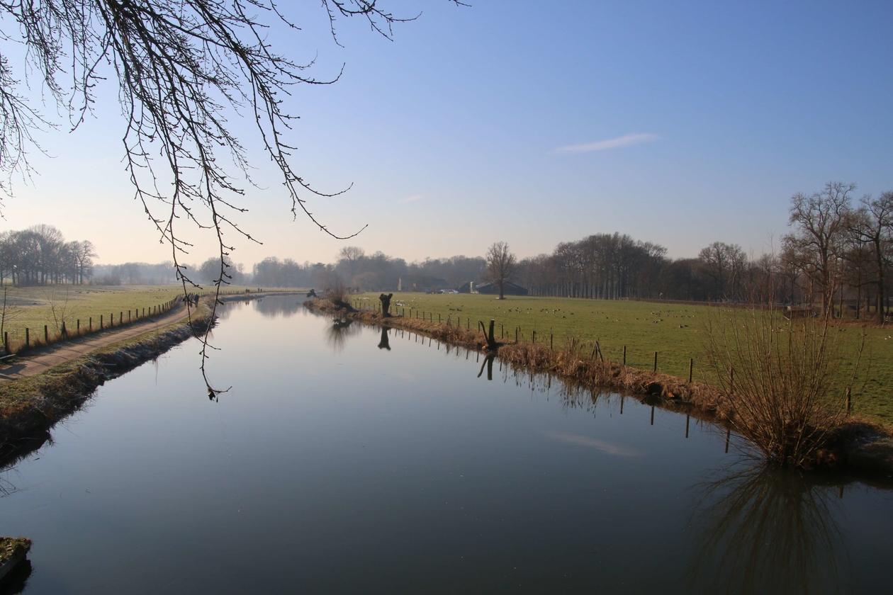 Een zonnige dag in januari langs de Kromme Rijn.