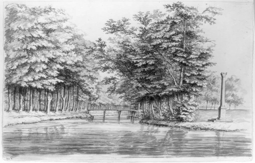 Oude brug Kromme Rijn 1800 1850