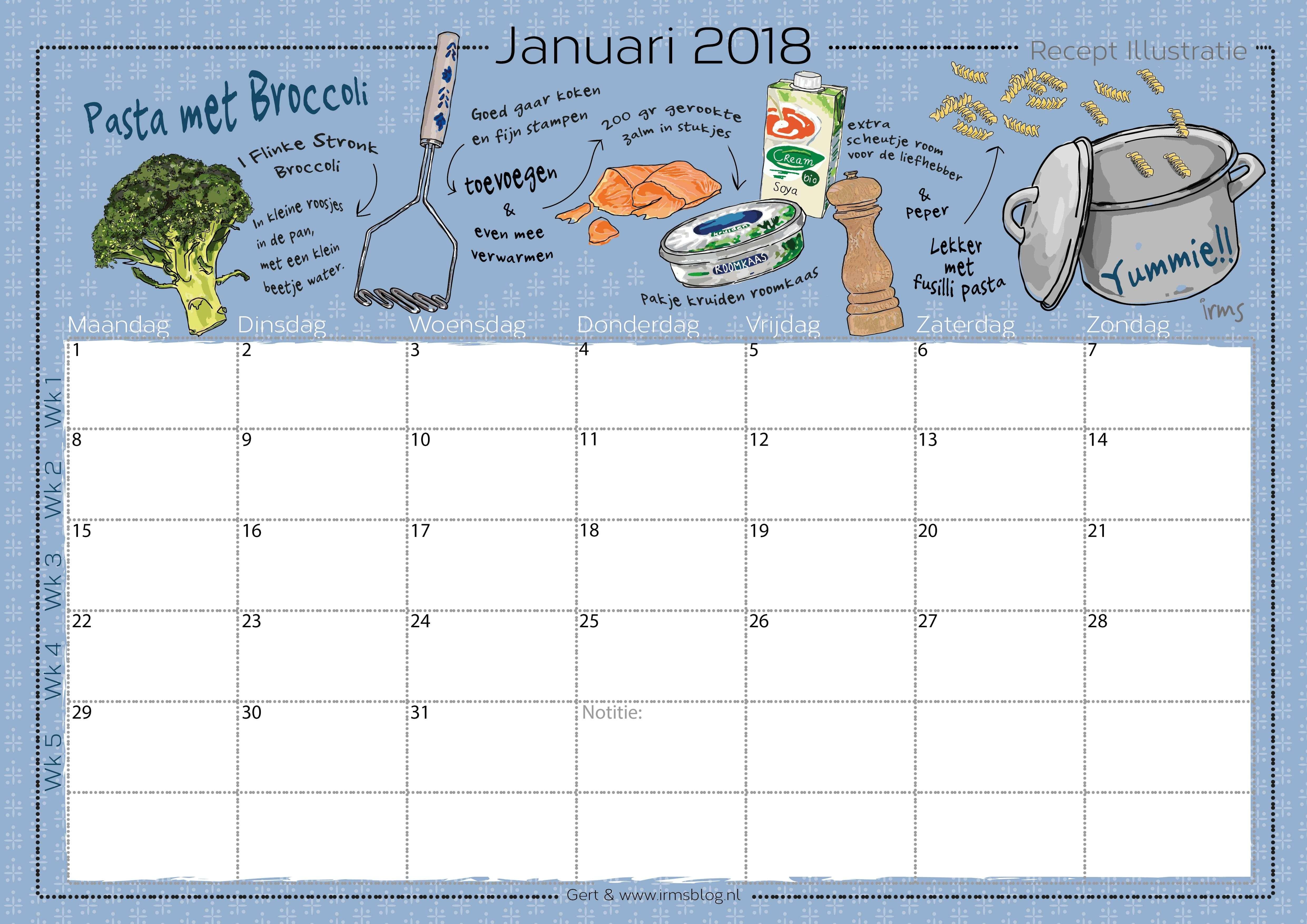 receptenkalender-2018-irmsblog_pasta zalm