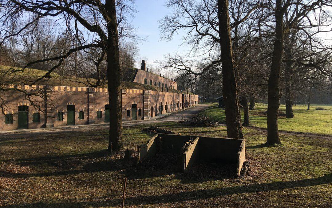 Winterwandeling op Fort bij Rijnauwen maart 2018