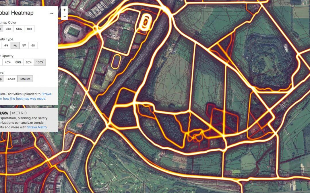 strava activity heat map