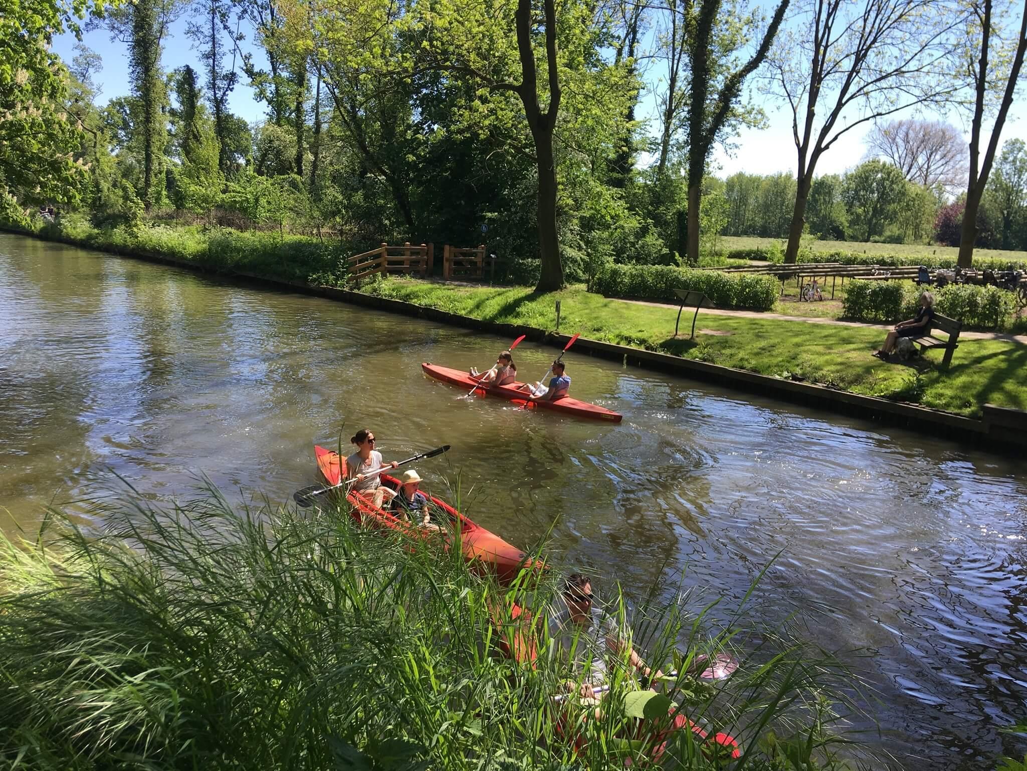 Kanoën op de Kromme Rijn