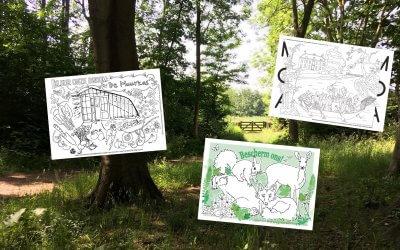 Landgoed Amelisweerd in 3 kleurplaten