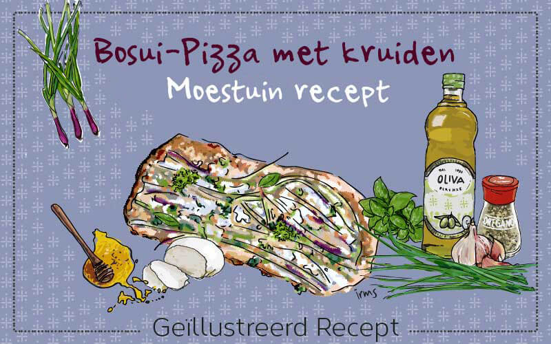 Moestuinrecept: bosui-pizza