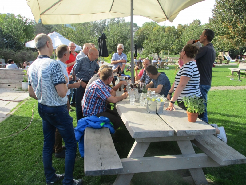 Team outing Amelisweerd drinks