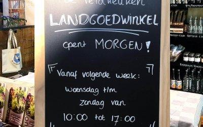 Landgoedwinkel de Veldkeuken open