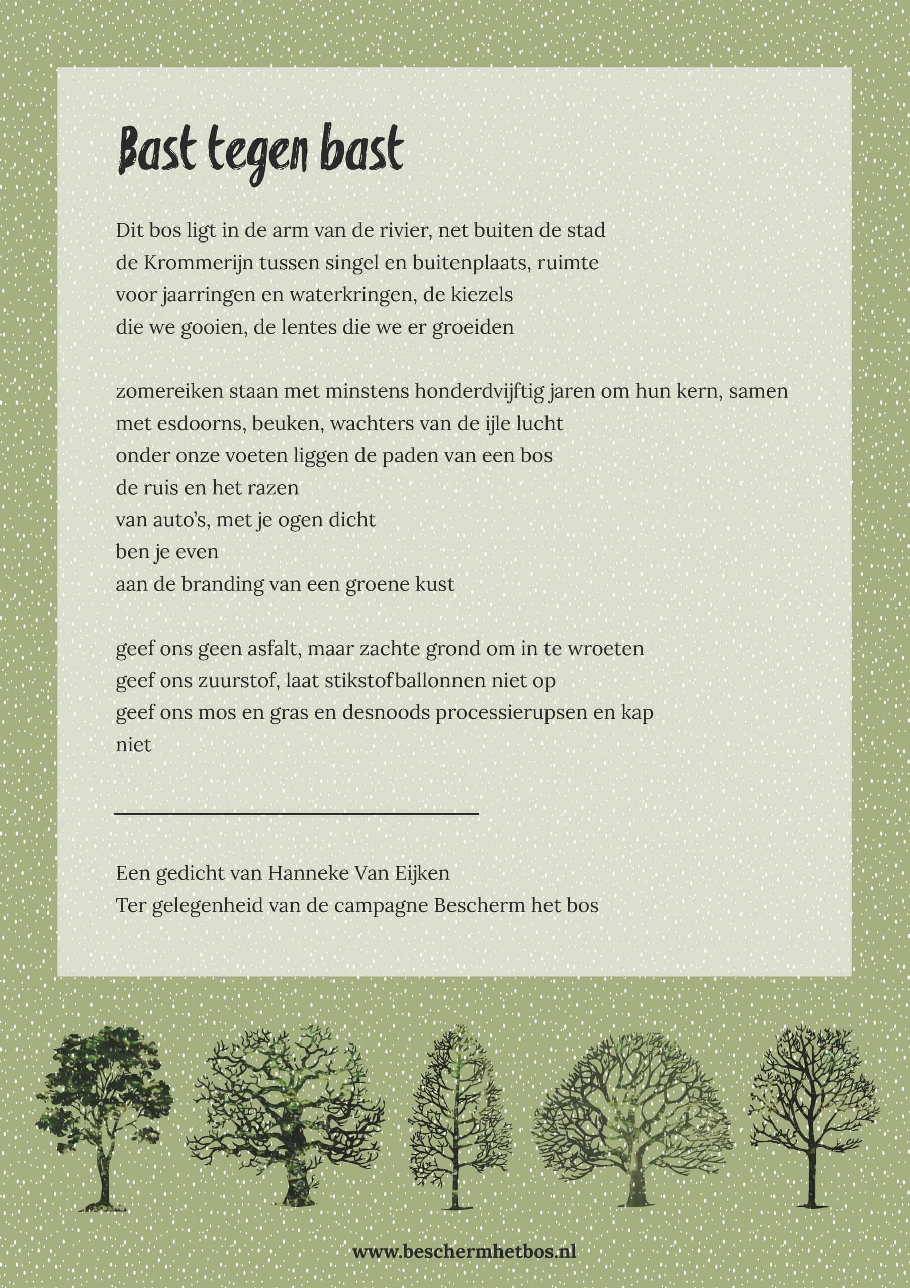 Gedicht Hannke van Eijken Amelisweerd