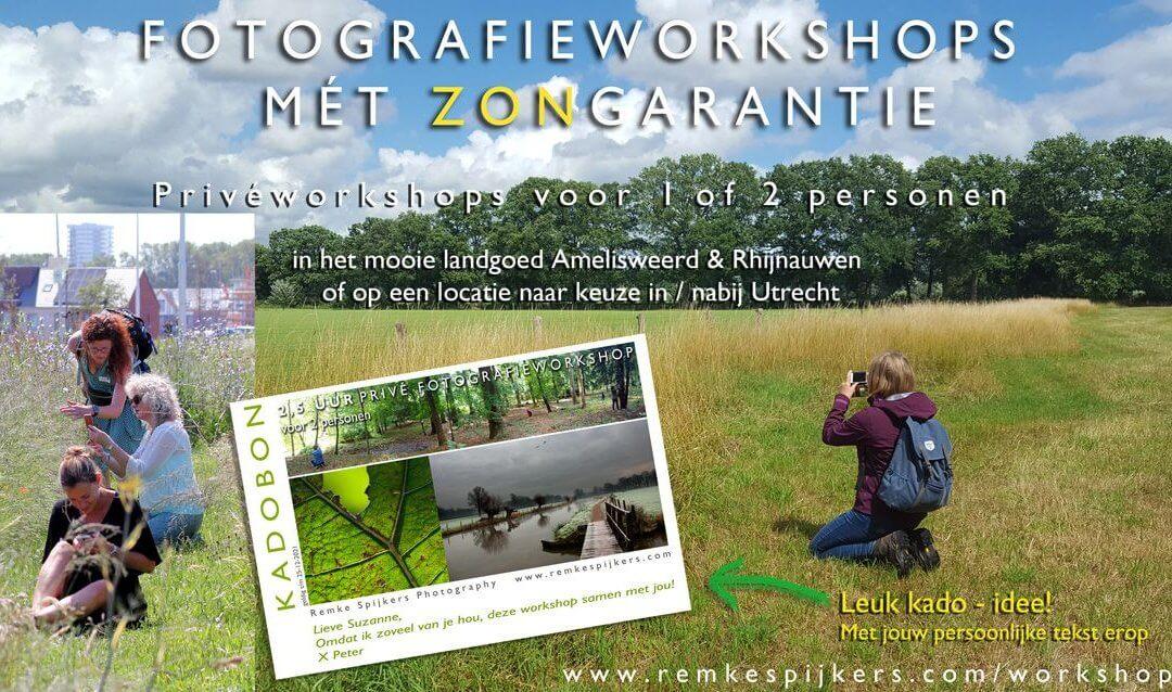 Fotografie workshops met zongarantie!