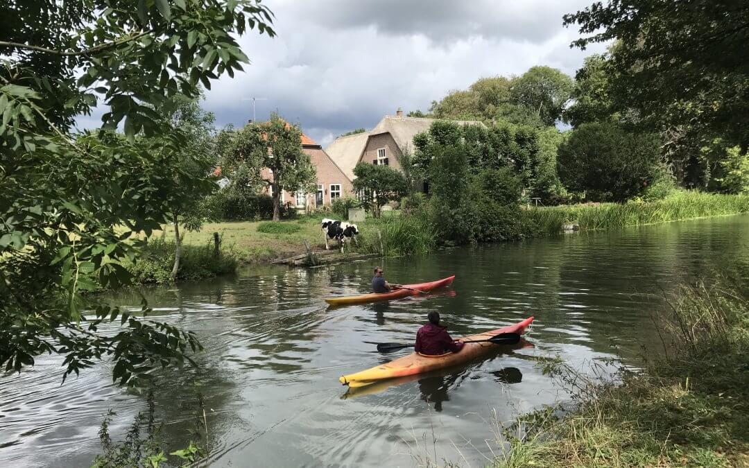 Kanoën op De Kromme Rijn bij Amelisweerd