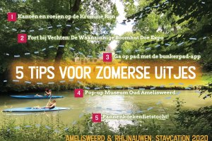 5 staycation tips amelisweerd & rhijnauwen