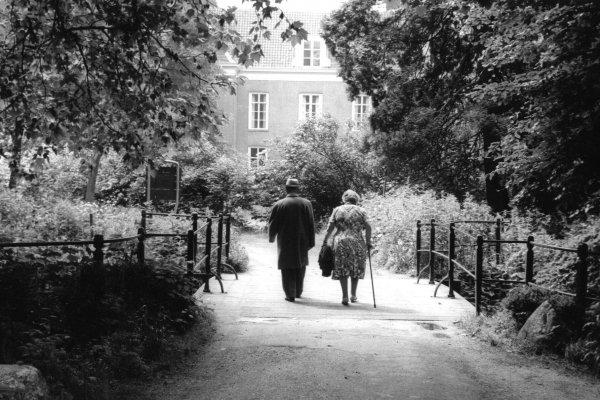 Wandelaars bij Oud Amelisweerd 1965