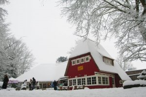 Theehuis in winterse sferen
